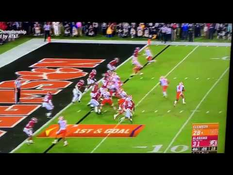 Clemson touchdown pass to win the National Championship
