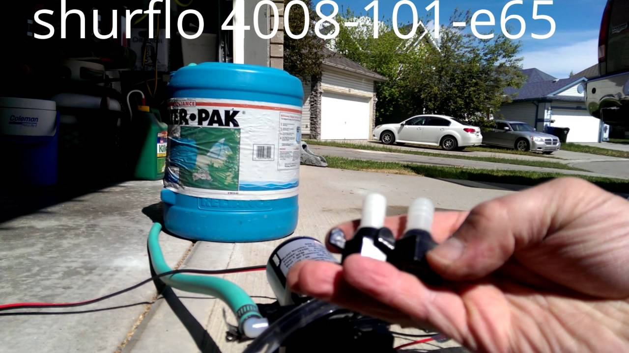 Shurflo Water Pump >> shurflo revolution water pump 4008-101-e65 - YouTube