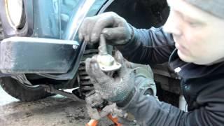 нива 21214 замена передних тормозных колодок и шаровых