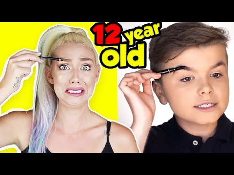 I TRIED FOLLOWING A 12 YEAR OLD KIDS MAKEUP TUTORIAL