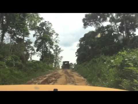 Road trip in Gabon - driving toward Omboue