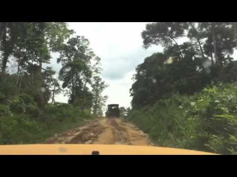 Road trip in Gabon - driving toward Omboue