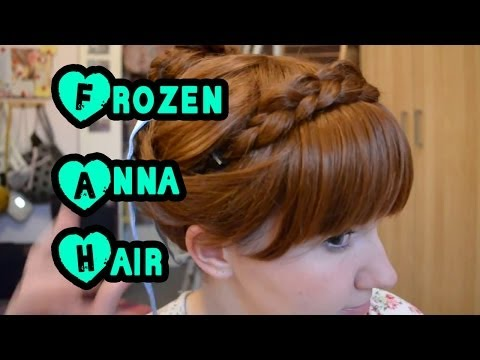 Disneys Frozen Anna Coronation Hairstylewig Tutorial Frozen