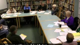 Warrant and Finance - School Budget - 03-26-2013