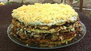Кабачковый пирог, бомбезная вкуснятина из доступных продуктов!