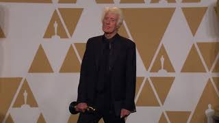 Roger Deakins wins Oscar for Best Cinematography - Oscars 2018 - Full Backstage Interview