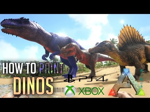 ARK PS4 HOW TO PAINT DINOS - ADMIN COMMANDS - PS4 / XBOX / PC  ARK HOW TO PAINT DINOS