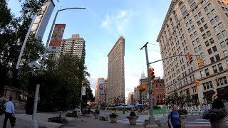 ⁴ᴷ⁶⁰ Walking NYC (Narrated) : Early Morning from Times Square to Flatiron Building (August 5, 2019)