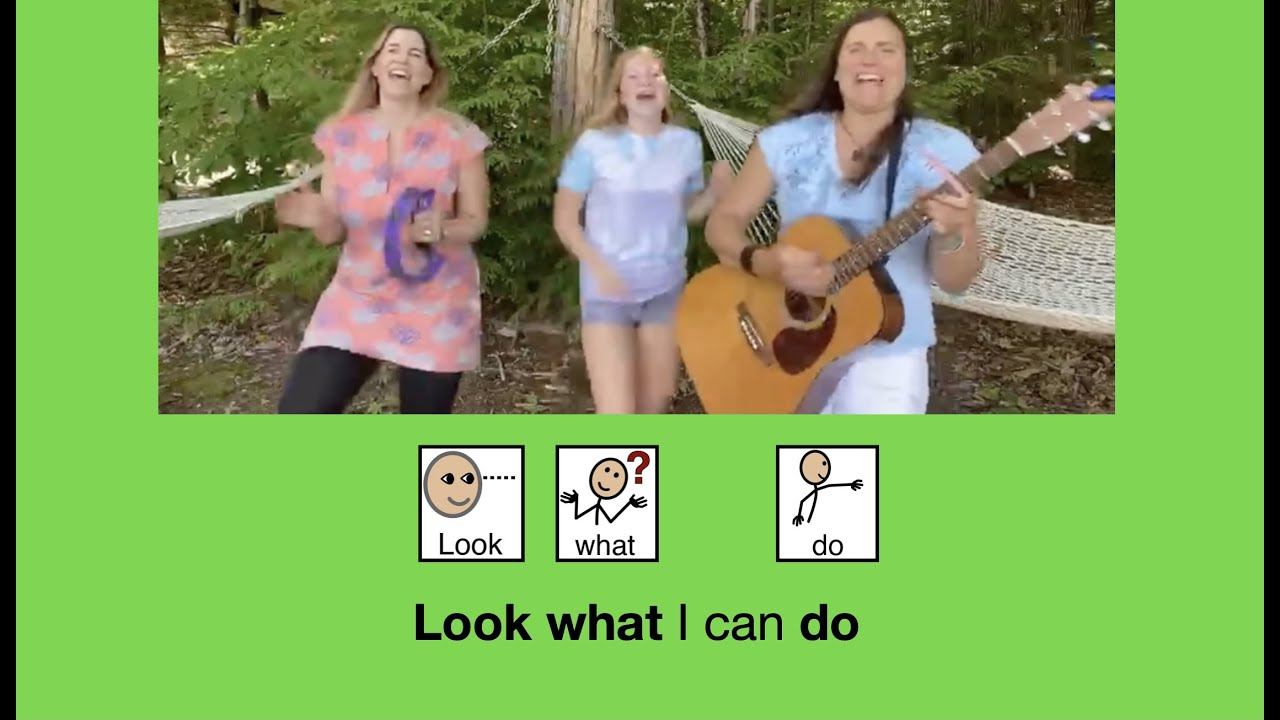 Look What I Can Do - move your body song with Movements & AAC core words DO, YOU, WHAT, STOP, GO