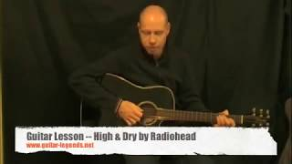 Radiohead High and Dry Guitar Lesson