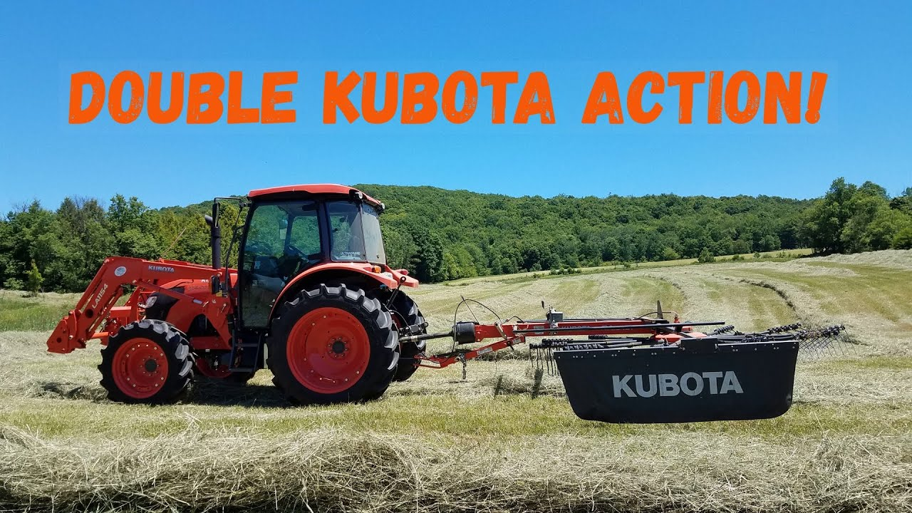 Kubota Rake And Kubota Tractor Raking Hay 2020!