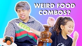 Eating WEIRD FOODS With Chocolate!