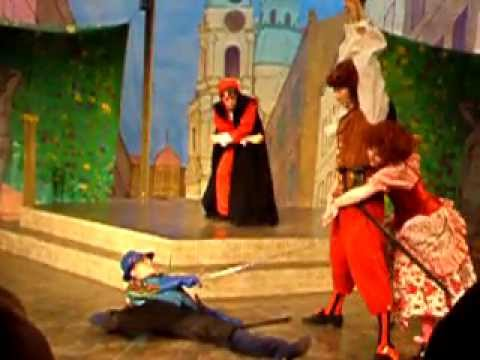 Beatrice And Silvio Sword Fight - A Servant Of Two Masters By Carlo Goldoni