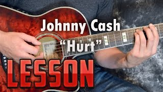 """In this lesson we learn how to play """"hurt"""" from johnny cash. tutorial go over all the chords and rhythms.this is a great acoustic song, based off..."""