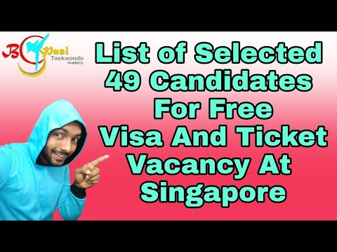 List Of Free Jobs 48 Selected Candidates For Singapore Country