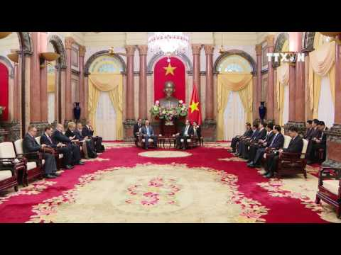 President welcomes Russia's security council chief