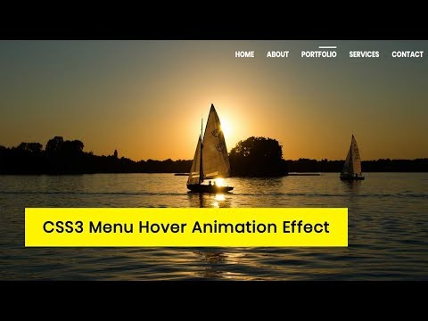 CSS3 Menu Hover Animation Effect tutorial | CSS3 Animation Snippets