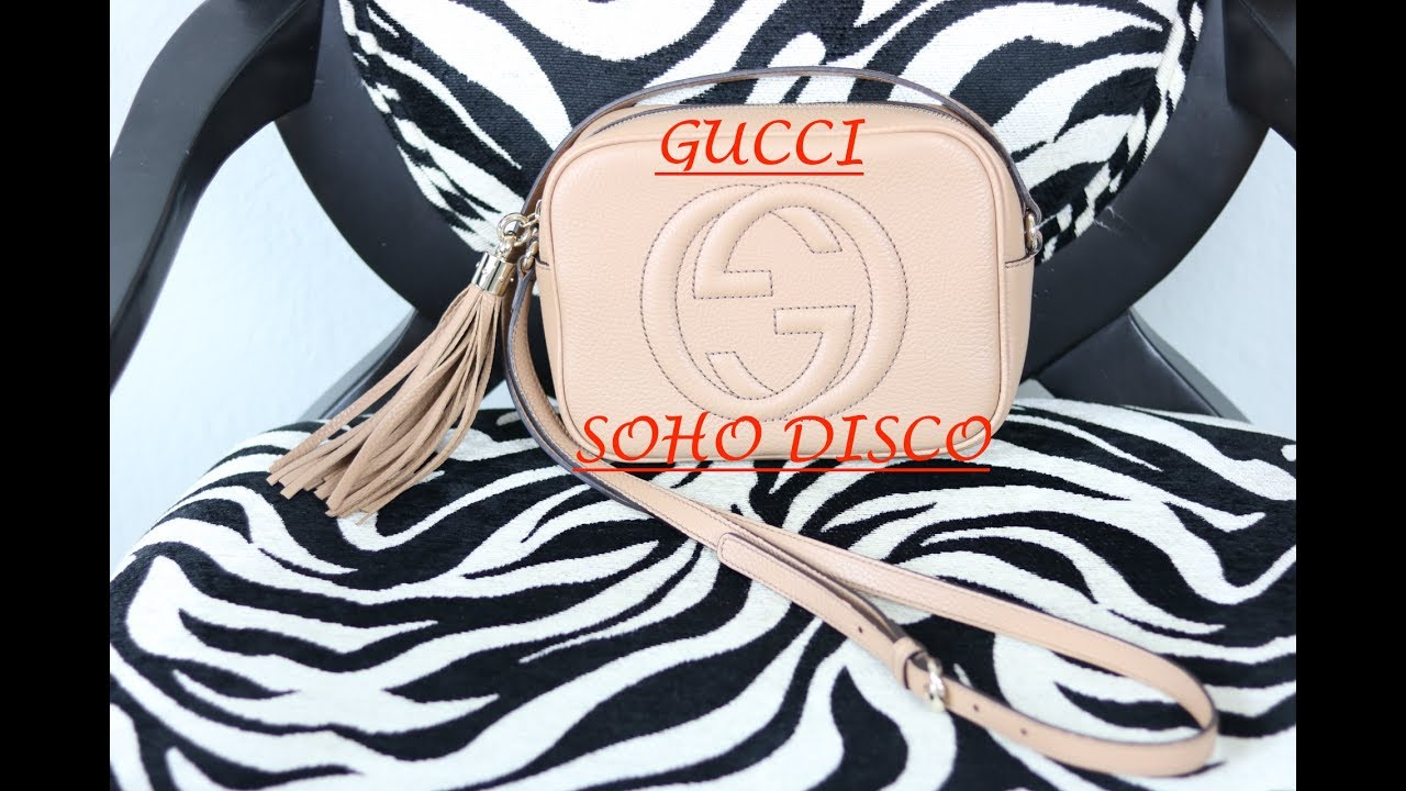 0305a381599b WHAT'S IN MY BAG: GUCCI SOHO DISCO - Review Rose Beige/ Camelia ...