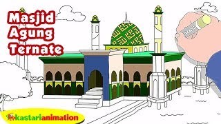 Mewarnai Masjid Agung Ternate bersama Diva   Kastari Animation Official Mp3