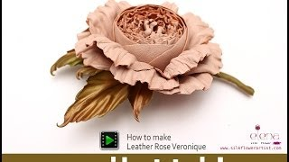 How no make silk flowers - Leather rose
