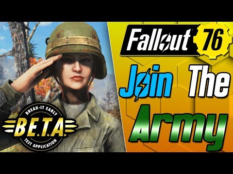 We Joined the US Army! - Fallout 76 B.E.T.A