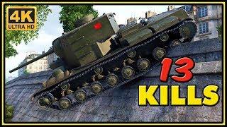 KV-5 - 13 Kills - 1 VS 6 - World of Tanks Gameplay - 4K Video