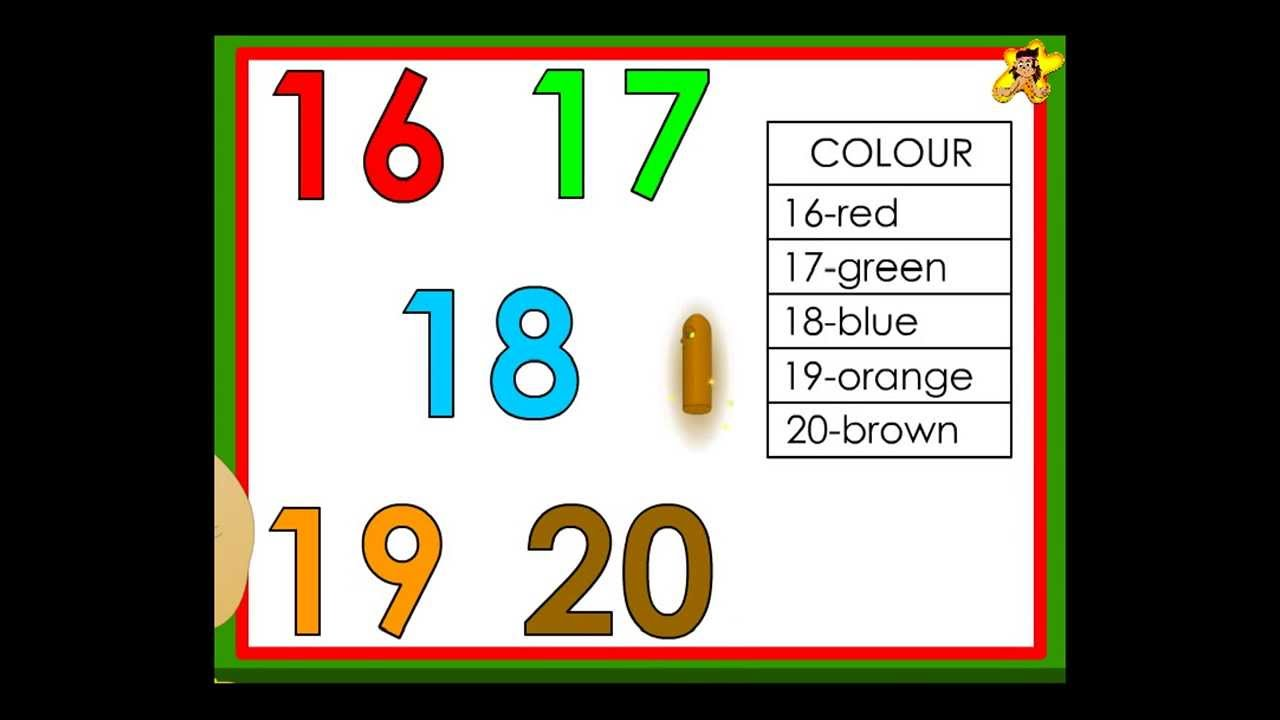 math worksheet : kindergarten worksheets number recognition  numbers 16 to 20  : Number Recognition Worksheets Kindergarten