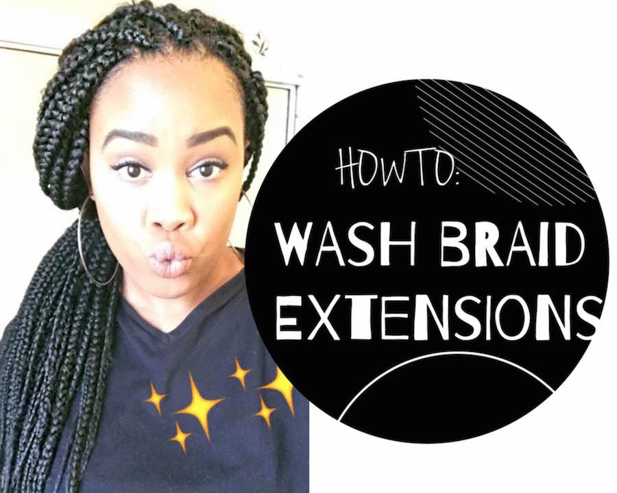 How To Wash Braid Extensions Youtube