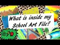 My School Art File| Drawings as a kid|| DyutiAgrawal