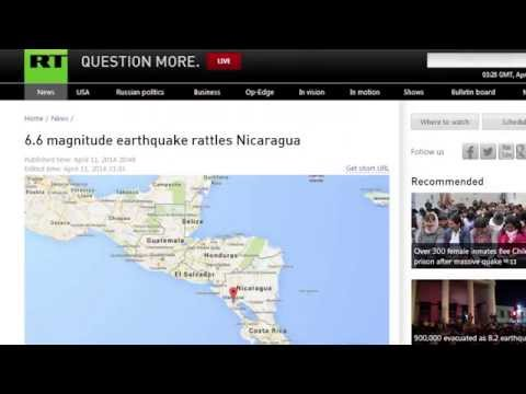 Major 6.6 EARTHQUAKE strike C AMERICA NICARAGUA, EL SALVADOR, C RICA Hrs ftr 6.1 April 12, 2014