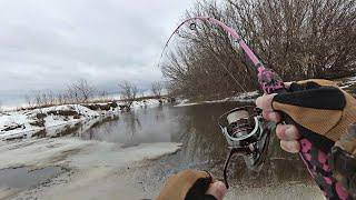 Щука прёт на нерест в ручьи и небольшие речки Миф Спиннинг в реке И ь сразу после схода льда