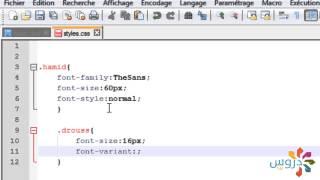 دورة CSS : الدرس 7 (خآصية Font-variant)