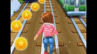Chơi subway surfers princess runner chạy lụm vàng đường ray xe lửa cu lỳ chơi game lồng tiếng vui