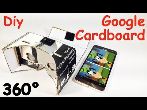 How to Make a GOOGLE CARDBOARD at Home   Virtual reality Headset   DIY