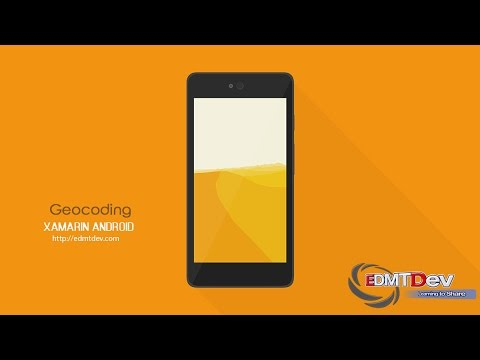 Xamarin Android Tutorial - Geocoding API