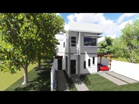 Edif cio comercial de 3 pavimentos garagem no subo solo for Casa moderna minimalista interior 6m x 12 50 m