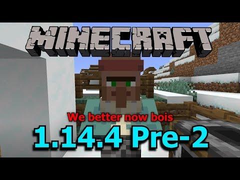 Minecraft 1.14 villager trade options