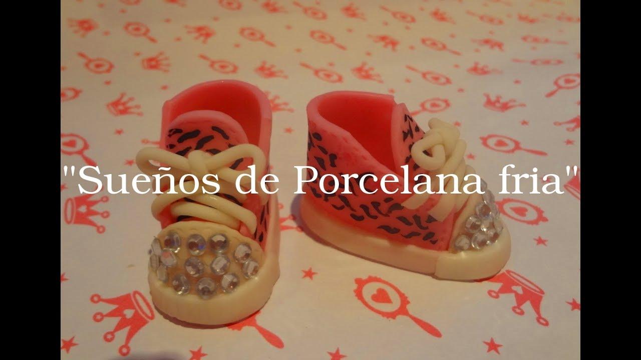 Zapatillas en porcelana fria serie zapatos parte 1 youtube for Marcas de vajillas de porcelana