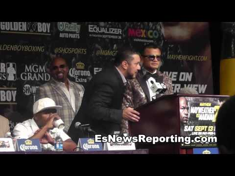 Full Floyd Mayweather vs Marcos Maidana Final Presser + Face Off