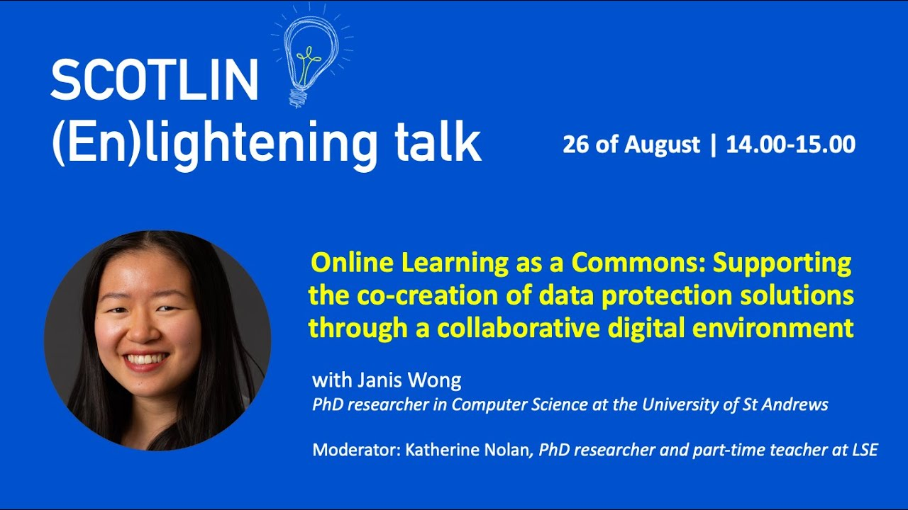 Recording of (en)lightening talk with Janis Wong - 26 August