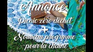 📢 Annonce : Picnic zéro déchet et actualités de la chaîne 💖