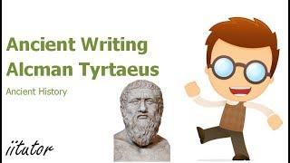 √ Ancient Writing Alcman Tyrtaeus   Ancient History