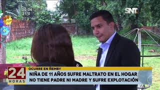Ñemby: niña de 11 años sufre maltrato en el hogar