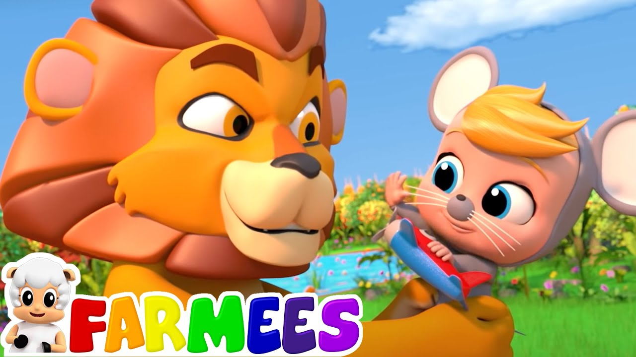 The Lion and the Mouse Story | Bed Time Stories for Children | Baby Songs | Animal Cartoon | Farmees