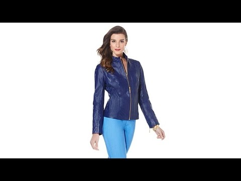 IMAN Platinum Genuine Leather Soho Chic Quilted Jacket