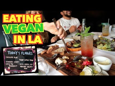 My 1st and Last Time at Vegan Restaurant - Eating in LA