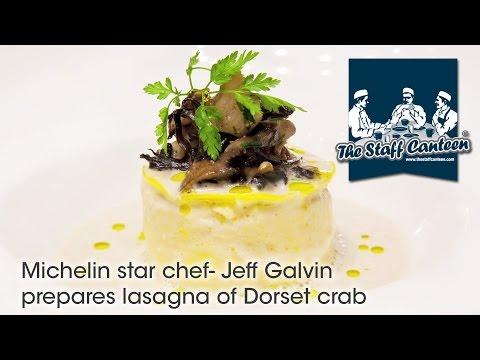 Michelin star chef- Jeff Galvin prepares lasagna of Dorset crab
