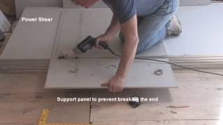 Fabricating and installing fiber cement boards