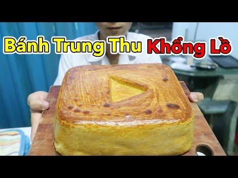 Làm Bánh Trung Thu Khổng Lồ Hình Nút Play Vàng Youtube - Cho Cả Xóm Ăn   Lâm Vlog