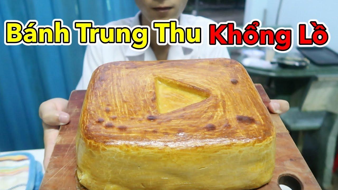 Làm Bánh Trung Thu Khổng Lồ Hình Nút Play Vàng Youtube – Cho Cả Xóm Ăn | Lâm Vlog